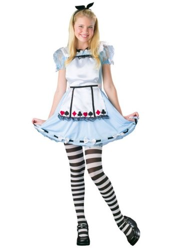Alice in Wonderland Costume - Tween Costume - Medium (8-10) (Alice In Wonderland Costume Toddler)