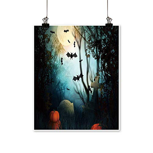1 Piece Wall Art Painting Halloween Backdrop Living Room Office Decoration,28