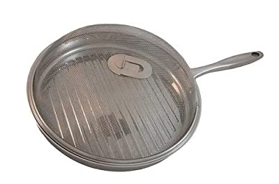 (Ship from USA) Wolfgang Puck Bistro Elite Grill Pan 12in Stainless Steel Low Profile /ITEM NO#8Y-IFW81854231920