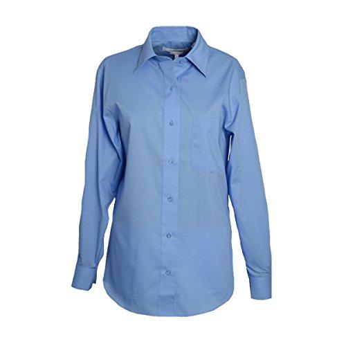 Foxcroft Long Sleeve CVC Solid Blouse (Blueberry, ()