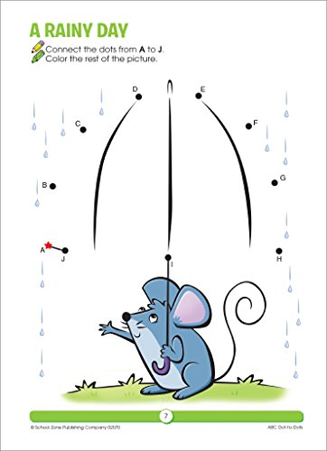 SCHOOL ZONE - ABC Dot-to-Dots Workbook, Ages 3 to 5, Get Ready!™, Alphabet, Alphabetical Order, Letters, Sequencing, Fine Motor Skills, Illustrations and More! by School Zone Publishing (Image #2)