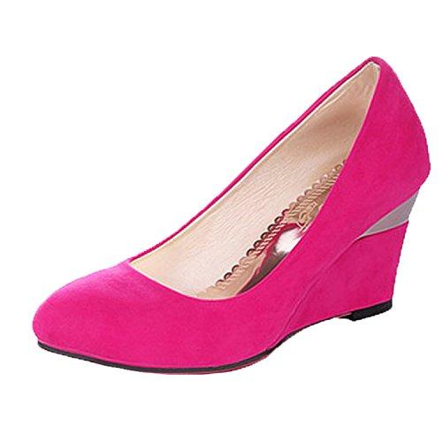 Nonbrand Women's Wedge Heel Office Shoes Elegant high heels Purple TE4eAgkzDo
