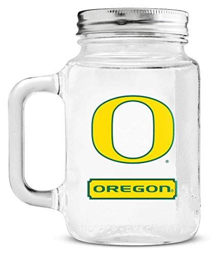 NCAA Oregon Ducks 20oz Glass Mason Jar