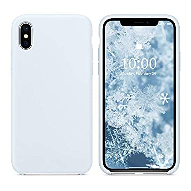 size 40 fed43 0ebfb SURPHY iPhone Xs Silicone Case, iPhone X Silicone Case, Liquid Silicone Gel  Rubber Anti-Scratch 5.8 inch Phone Case for Apple iPhone XS/X, Sky Blue