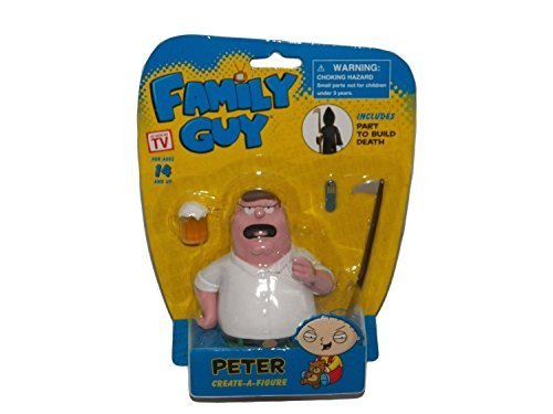 Family Guy Create-A-Figure, Peter Griffin (Includes Part to Build Death)]()