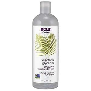 NOW Solutions Vegetable Glycerine (Liquid), 16-Ounce