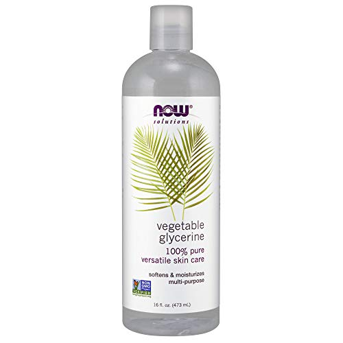 (Now Solutions, Vegetable Glycerin, 100% Pure, Versatile Skin Care, Softening and Moisturizing, 16-Ounce)