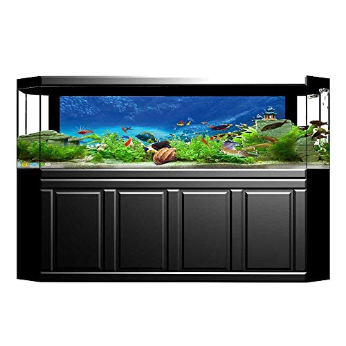 Jiahong Pan Background Poster Fairy Underwater with and Source of Oxygen Aquatic Liquid Culture PVC Aquarium Decorative Paper L29.5 x H17.7