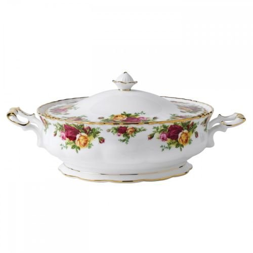 Royal Albert Old Country Roses 50-ounce Covered Vegetable - Albert Royal Pottery