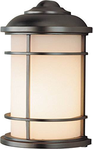 Feiss OL2203BB-LED Lighthouse LED Outdoor Lighting Wall Pocket Sconce, Bronze, 1-Light (7