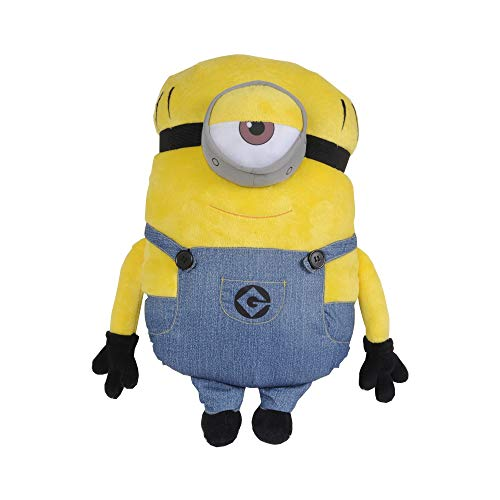 Universal Despicable Me Minions Mel Character Shaped Soft Plush Cuddle Pillow, Yellow ()