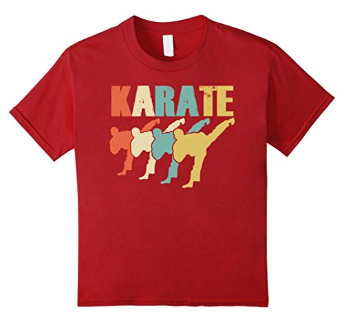Karate Kid Outfit - unisex-child Vintage I Love Karate Shirt Gift Ideas Karate Outfit Clothes 6 Cranberry