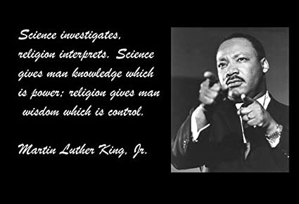 speech on science and religion