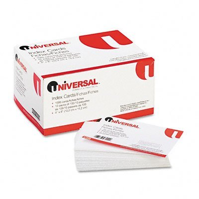 Universal Products - Universal - Unruled Index Cards, 4 x 6, White, 100/Pack - Sold As 1 Pack - An essential tool for students and speakers. - Environmentally-friendly index cards help you keep your notes organized. - ()