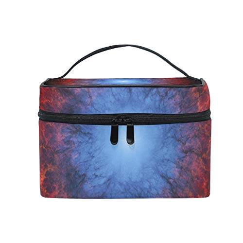 Makeup Bag Cosmetic Storage Bag Art Artistic Futuristic Science Space Fantasy Artw Portable ()