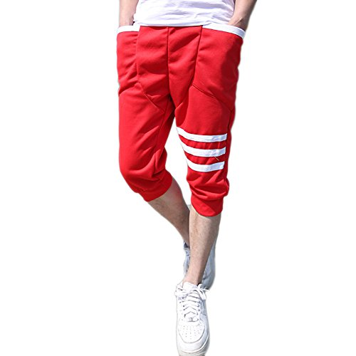 Magiftbox Men's Slim Fit Harem Jogging Sports Stripe Pants