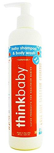 thinkbaby Shampoo & Body Wash, 8 oz, Orange/White/Blue