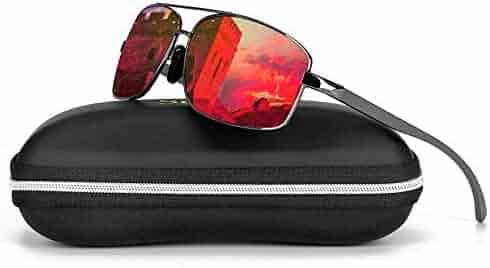 e08971d5178bf Sports Polarized Sunglasses For Men-Scolor Rectangular Metal Frame Ultra  Lightweight UV400