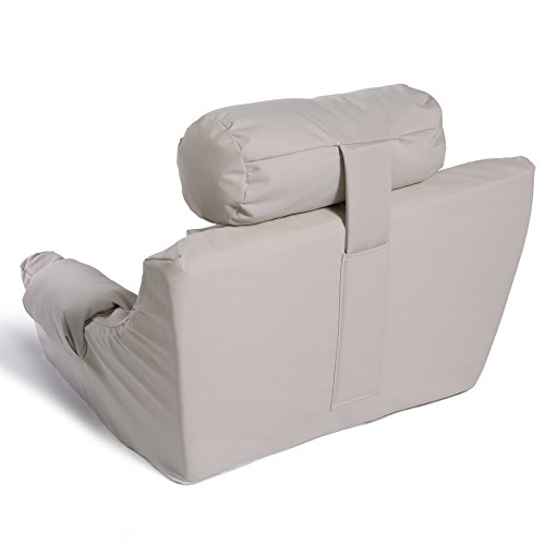 Deluxe lounger great for reading watching tv gaming for Pillow back bed frame