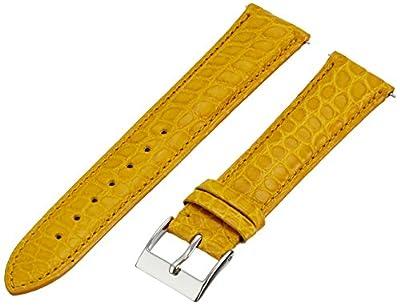 Swiss Watch International 20 MM Mustard Genuine Alligator Strap 20ABR29M by Swiss Watch International
