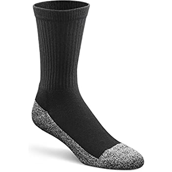 Dr. Comfort Diabetic Extra Roomy Socks, Black, Medium (1 Pair)
