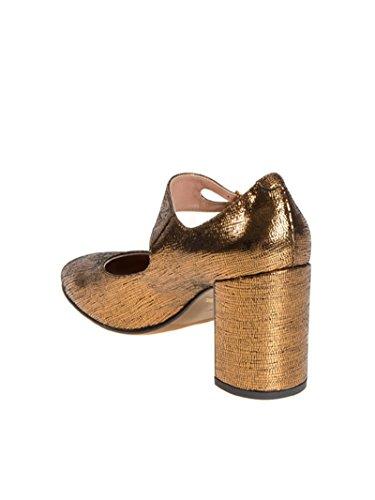 LAutre Chose Damen LDF12675WN24382005 Gold Leder Absatzschuhe