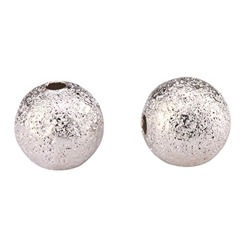 100 Beautiful 3mm Silver Plated Stardust Spacer Beads Best Quality Metal Copper Arts Jewelry Making Findings