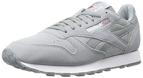 Reebok Men CL Leather NM Fashion Sneaker Flint Grey/White