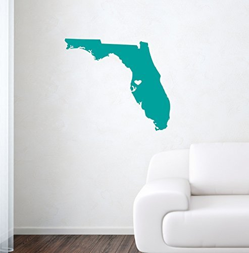 Larmai Custom Florida Wall Decal for Girls Boys Nursery Room Decoration Vinyl Wall Stickers Mural for $<!--$13.00-->