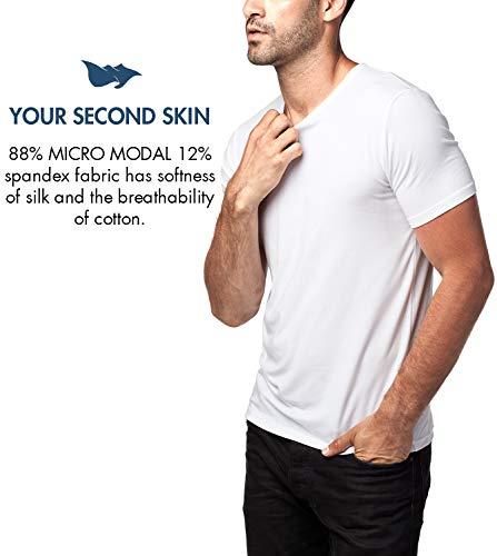 – Lot Peau M07 col Modal Ultra 2 Manches Et Homme 04 microfibre Doux White Lapasa De Second Blanc Confortable Micro Courtes shirt amp;m08 Sensation T Rond En 7W8dndHR4