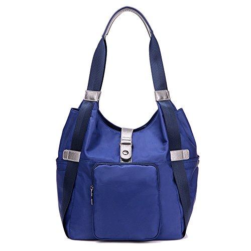 Meoaeo Nuevo Señoras Bolsos De Moda Bolsas De Hombro Mujeres Negras Mujeres Impermeable Púrpura De Alta Calidad blue