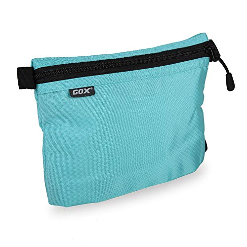 GOX Carry On Zipper Pouch Toiletry Bag Packing Sack Makeup Bag Digital bag-Size Small (Blue)