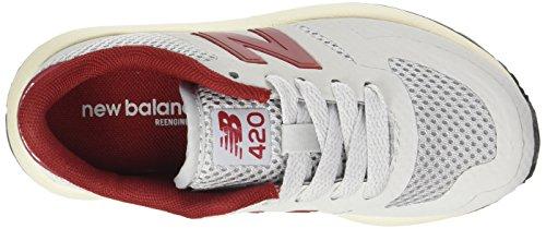 Enfant Mixte New Basses Gris Rouge Kfl420 Clair Sneakers Balance xFqvwrPRqX