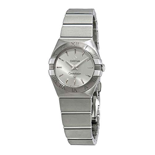 - Omega Women's 12310246002001 Constellation Analog Display Swiss Quartz Silver Watch