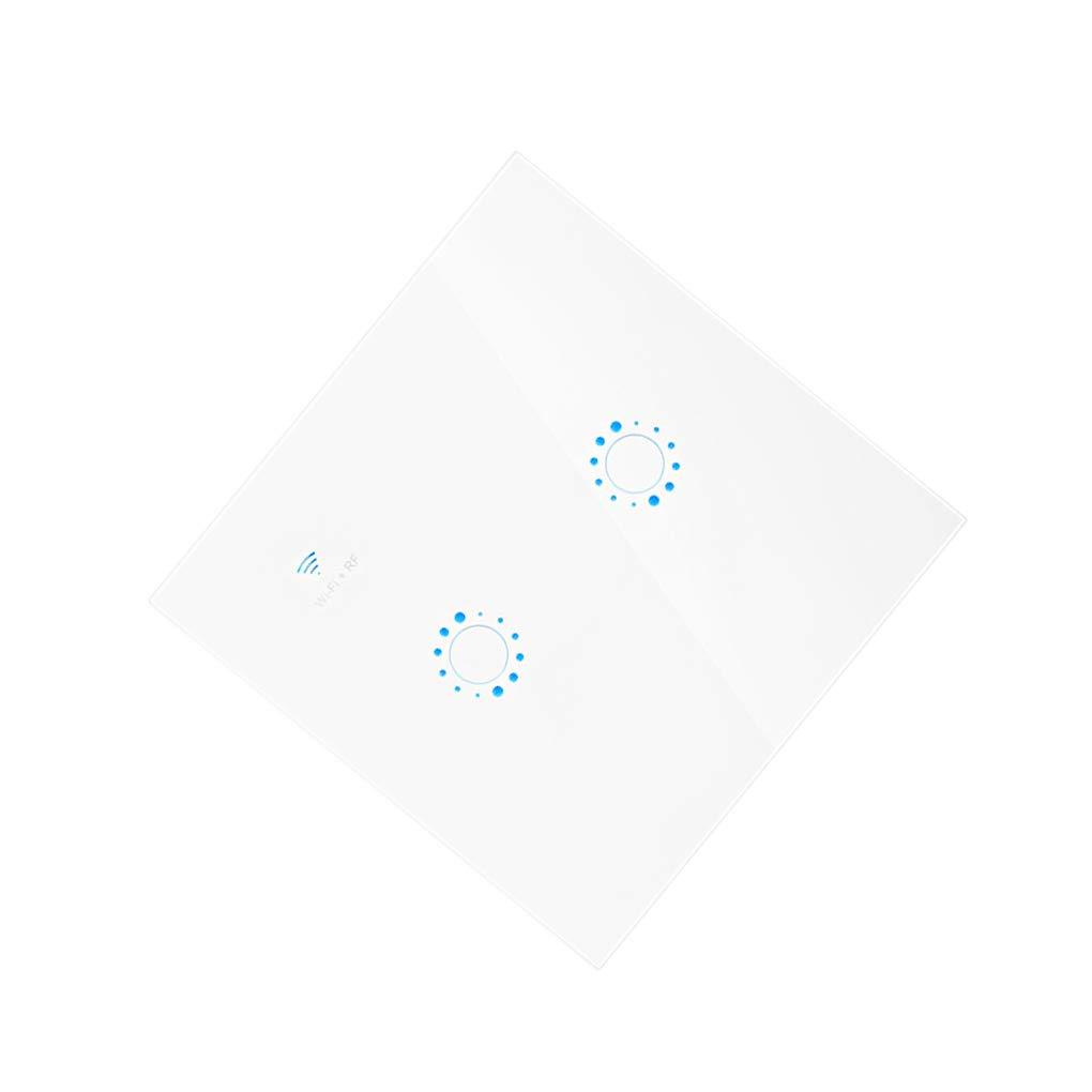 Pandiki WiFi de Control El Panel de Pared de luz 1//2//3 cuadrilla de la Pantalla t/áctil de Interruptor inal/ámbrico Alexa Google Inicio Remoto de Control de Interruptor de Pared