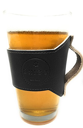 - Dingo Leather Pint Sleeve with Handle for 16 Ounce Glass