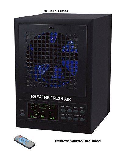 Breathe Fresh 5-in-1 Air Purifier w/ UV, Ozone Power, Ionizer Odor Reducer, PCO Filtration Cleaning