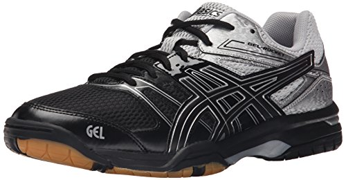 Asics Men's Gel-Rocket 7 Indoor Court Shoe, Black/Silver, 12 M US (Asics Gel Domain)