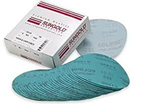 Sungold Abrasives 74683 6-Inch x No Hole Eclipse Film Hook and Grits 5 Each of 800, 1200, 1500 and 2000 Loop Sanding Discs Assorted Fine, 20-Piece