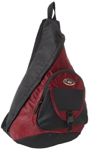 er Black 18-inch Sling Style Backpack, Deep Red, One Size ()