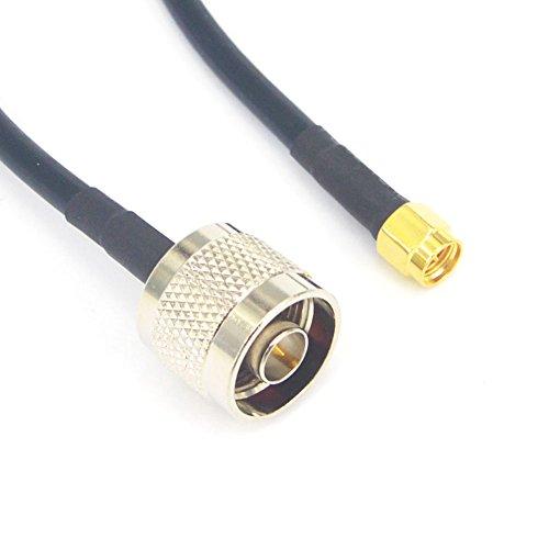 Cable de antena coaxial N macho a SMA macho 15 metros RG58/U de baja pérdida, 15 metros: Amazon.es: Electrónica