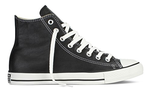 Converse Unisex All Star Leder Hi Sneaker Schwarz