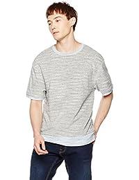 Men's Short Sleeve Towel Terry Crewneck Sweatshirt