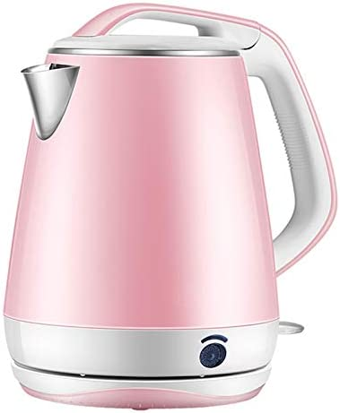 KINXPOR Electric Kettle Double Layer Anti-scalding Fast Boiling 1.8L 1500W - Pink