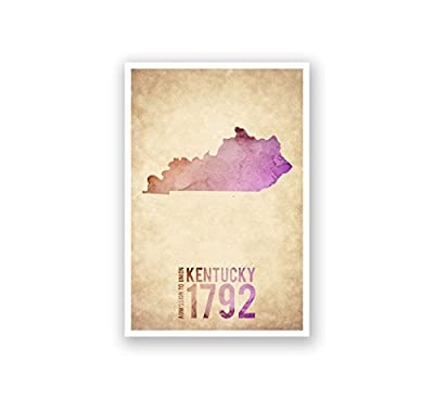 Kentucky - State Outline Watercolor - 12x18 Matte Poster Print Wall Art
