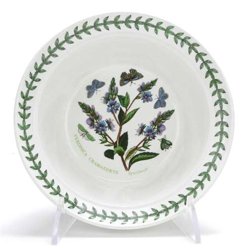 (Botanic Garden by Portmeirion, Earthenware Rim Cereal Bowl, Speedwell)