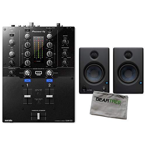 Pioneer DJ DJM-S3 2-Channel Serato DJ Battle Mixer Bundle w/
