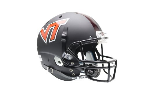 NCAA Virginia Tech Hokies Replica XP Helmet - Alternate 1 (Matte Black) - Tech Hokies Authentic Football Helmet