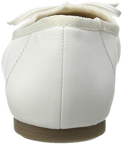 Tamaris 22100, Bailarinas para Mujer Blanco (WHITE MATT 108)