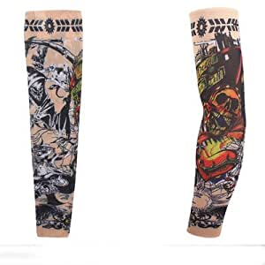 Compression arm sleeves running sun for Tattoo sleeves amazon